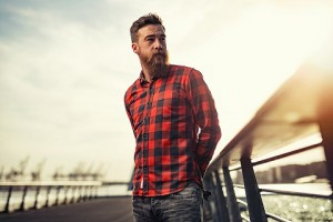 Bearded Dude in Checkered Shirt