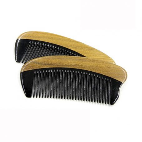 Pocket Size Sandalwood and Ox Horn Beard and Moustache Comb