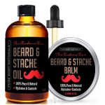 African American Beard Care Products - Pure Body Naturals Beard Oil and Beard Balm