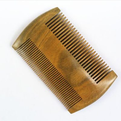 Narrow Tooth Jade Sandalwood Pocket Beard and Moustache Comb