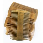 Wooden Pocket Beard Comb - Narrow Tooth Sandalwood Beard and Moustache Comb